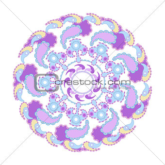 circular pattern vector illustration on a white background 4