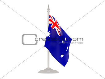 Flag of australia with flagpole. 3d render