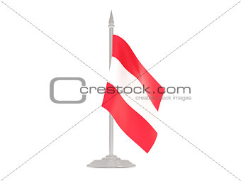 Flag of austria with flagpole. 3d render