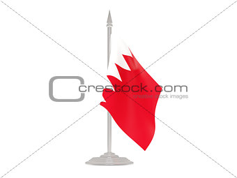 Flag of bahrain with flagpole. 3d render