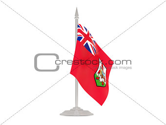 Flag of bermuda with flagpole. 3d render