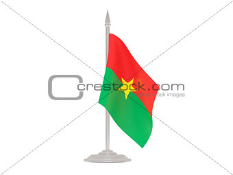Flag of burkina faso with flagpole. 3d render