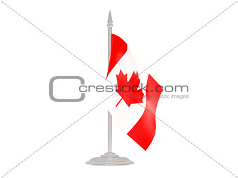 Flag of canada with flagpole. 3d render