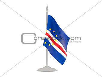 Flag of cape verde with flagpole. 3d render