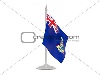 Flag of cayman islands with flagpole. 3d render