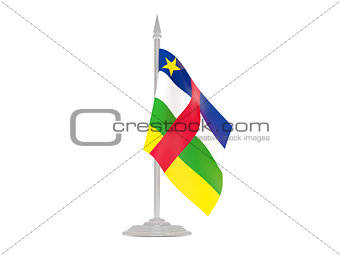 Flag of central african republic with flagpole. 3d render