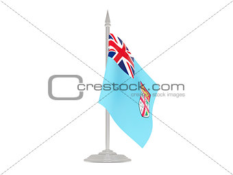 Flag of fiji with flagpole. 3d render