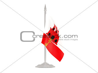 Flag of gibraltar with flagpole. 3d render