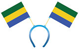 Headgear flag Gabon