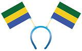 Headgear flag Gabon