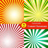 Stylish sunburst background collection