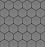 Seamless latticed pattern. 3D illusion.