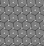 Seamless hexagons pattern. 3D illusion.