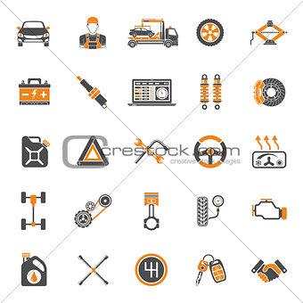 Car Service Vector Icons Set