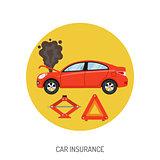 Car Insurance Flat Icon