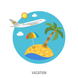 Vacation Flat Icon