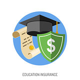 Education Insurance Flat Icon