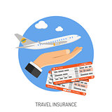 Travel Insurance Flat Icon