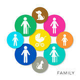 Vector family infographic icons