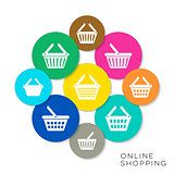 Vector online shopping icons