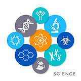 Vector science infographic icons