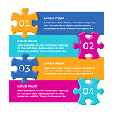 Vector infographic puzzle design