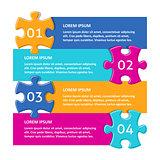 Vector infographic puzzle design