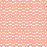 Seamless dotted wavy line pattern