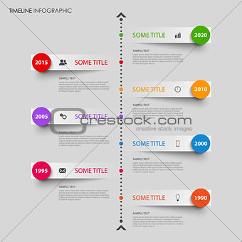 Time line info graphic with bent design stripes template