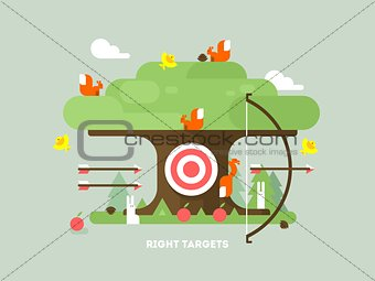 Right targets tree with animal