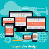 Responsive webdesign concept banner