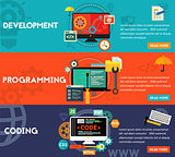 Programming, Development and Coding Concept Banners