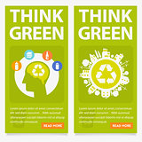 Vector Green Eco Banners