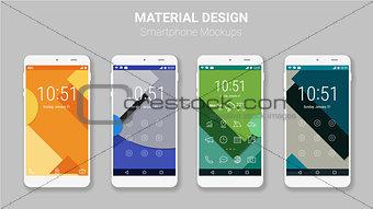Material UI screens mockup kit