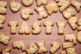 letters of cookies