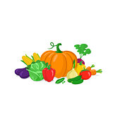 Colorful vegetables composition.