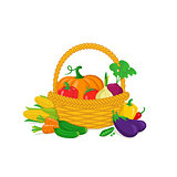 Vegetables in a basket.