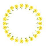 flowers circle pattern