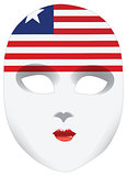 Bandana in the form of the national flag Liberia
