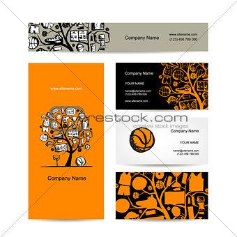 Business cards design, basketball tree concept
