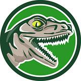 Raptor Head Side Circle Retro