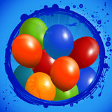 Balloons circle background
