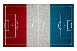 France Flag Soccerfield