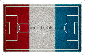 France Flag Soccerfield
