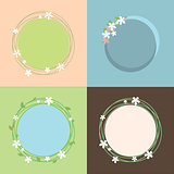Spring theme colorful set of frames design