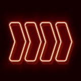 Neon arrow indicates the direction
