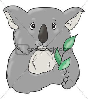 Koala icon art.