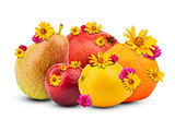 Fruits with flowers