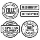Express delivery and free worldwide shipping stamps