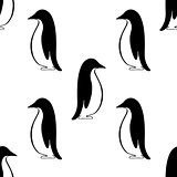 penguin background, vector
